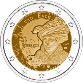 630 лет со дня рождения Ян ван Эйк  2 евро Бельгия 2020   (BU coincard)