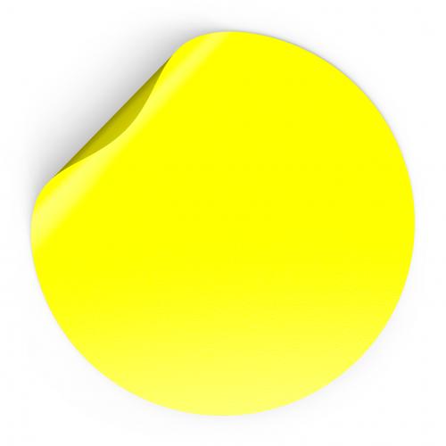 """Наклейка сигнальная """"Доступная среда"""", желтый круг, D15см, Айдентика Технолоджи"""