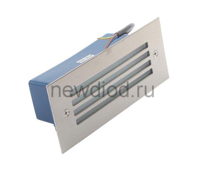 Светильник светодиодный грунтовый вытянутый Luazon 3 Вт,170х70х55 мм,IP65, 220 В, БЕЛЫЙ