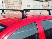 Багажник на крышу Volkswagen Polo hatchback, 1995-2001, Delta, стальные прямоугольные дуги