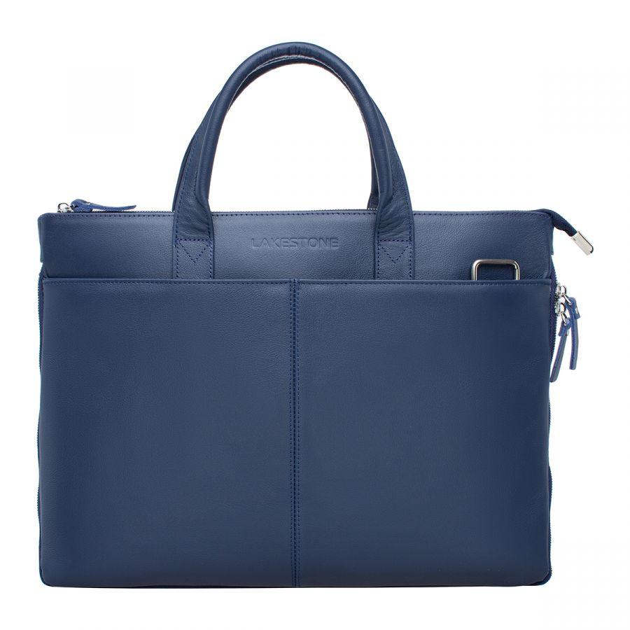 Кожаная деловая сумка LAKESTONE Bolton Dark Blue