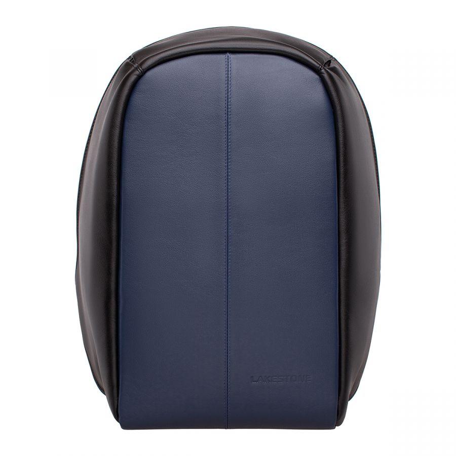 Мужской кожаный рюкзак LAKESTONE Blandford Dark Blue/Black