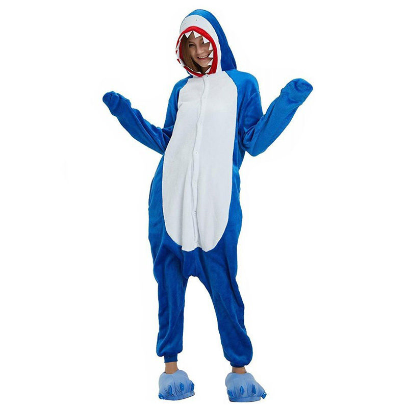 Пижама Кигуруми Акула Синяя
