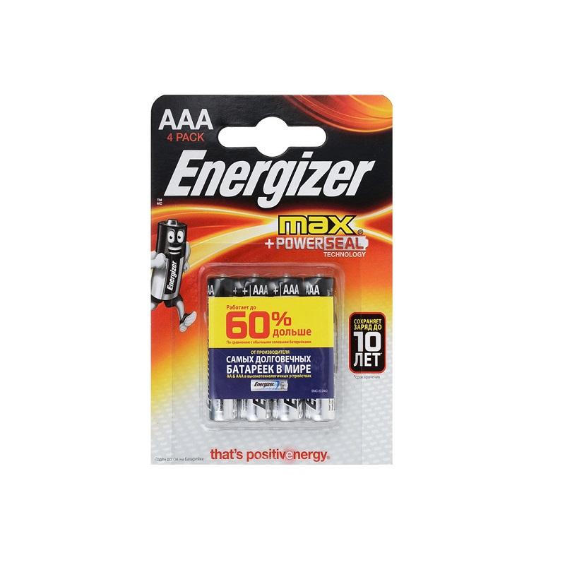 Батарейки AAA LR03 (4 ШТ) ENERGIZER MAX