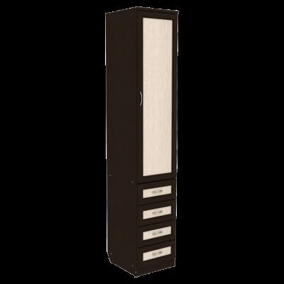 Шкаф для белья с ящиками арт. 104 (венге)