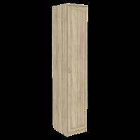 Шкаф для белья со штангой и полками арт. 105 в цвете дуб сонома