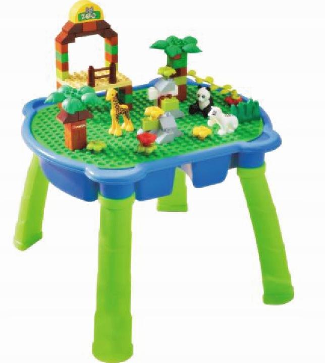 Столик Zoo table + блоки, совместимые с Lego Duplo 90эл.