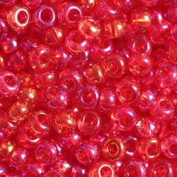 Бисер чешский 91070 красный прозрачный радужный Preciosa 1 сорт