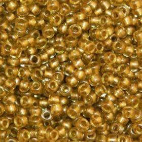 Бисер чешский 18984 золотисто-бежевый полупрозрачный Preciosa 1 сорт