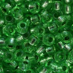 Бисер чешский 08256 травяной прозрачный серебряная линия внутри Preciosa 1 сорт