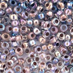 Бисер чешский 58518 прозрачный радужный бежевая линия внутри Preciosa 1 сорт