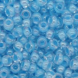 Бисер чешский 38163 прозрачный голубая линия внутри Preciosa 1 сорт