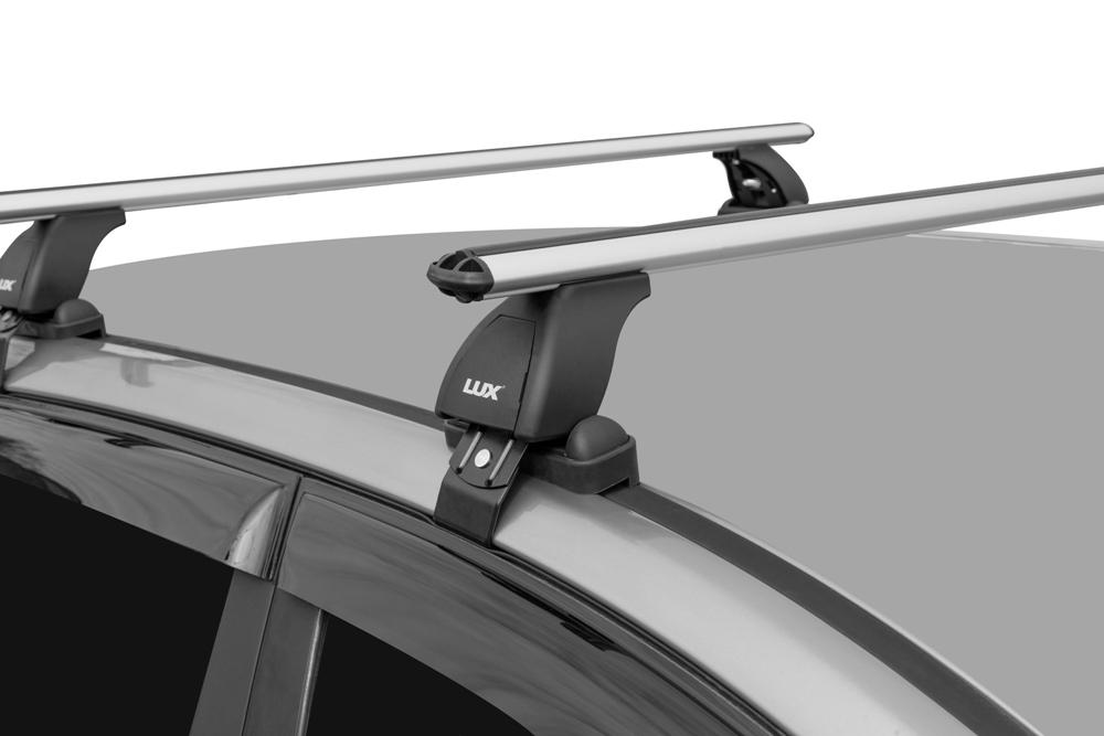 Багажник на крышу Volkswagen Jetta A6 2011-..., Lux, аэродинамические дуги (53 мм)