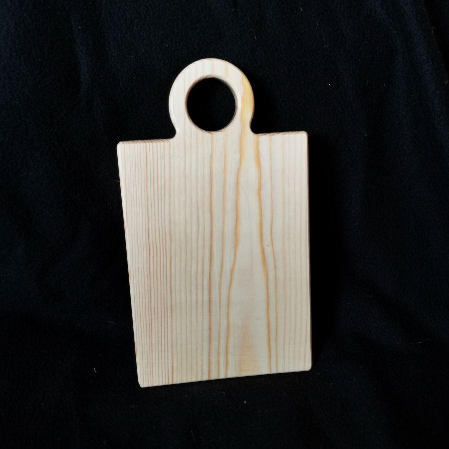 Доска из массива сосны, с плечиками, 25 см