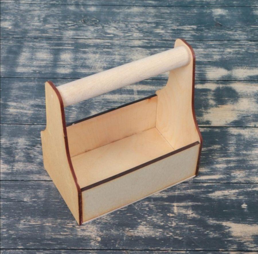 Ящик из фанеры с ручкой  20×12.5×20 см