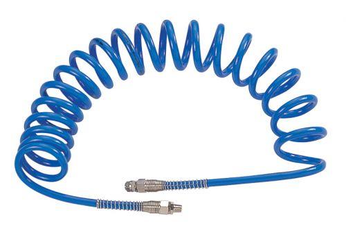 """Шланг пневматический спиральный высокого давления 10х15 мм, 15 м, М3/8"""", полиуретановый MIGHTY SEVEN SD-23315"""