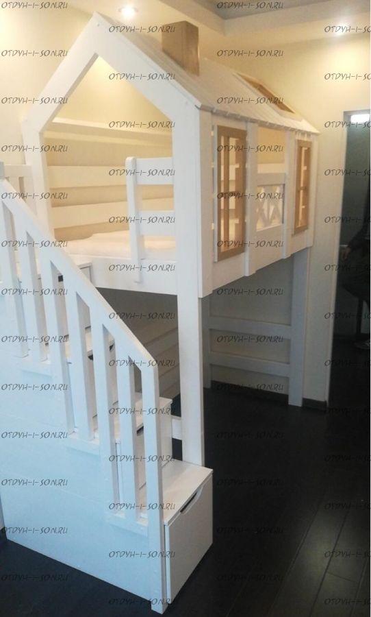 Кровать-чердак Домик Felicia №71
