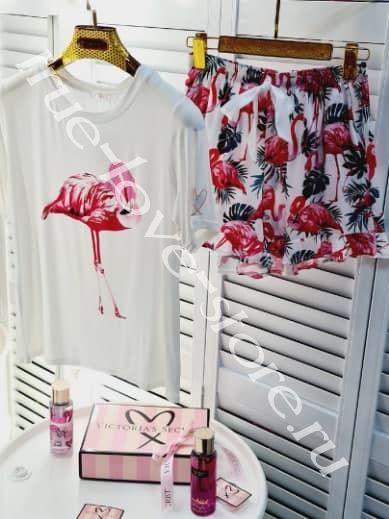 720014 - Цена 1 шт. Пижама двойка VS (Фламинго)
