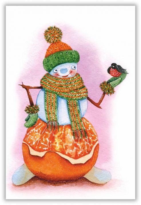 Мандариновый снеговик