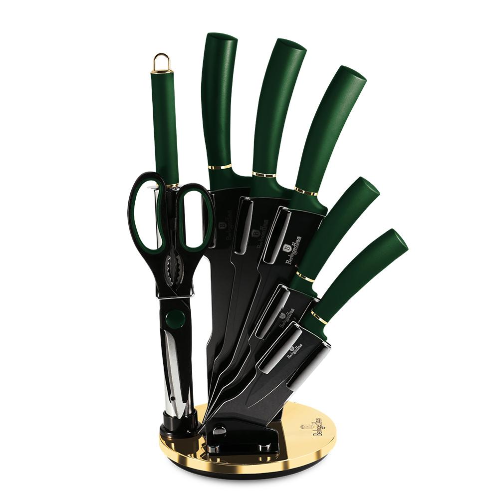 BH-2563 Emerald Line Набор ножей на подставке 8 пр.