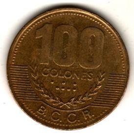 Коста-Рика 100 колонов 2000