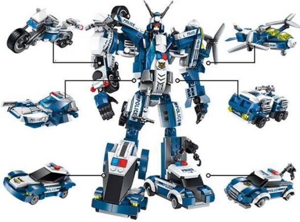 Комплект конструктора Blockformers Мегаробокоп из 6 штук
