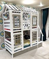 Двухъярусная кровать Домик Felicia №29А