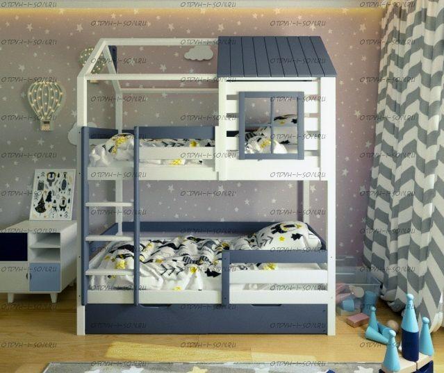 Двухъярусная кровать Домик Felicia