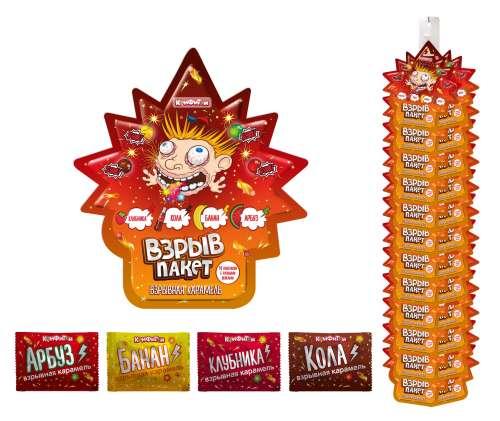 ВЗРЫВ ПАКЕТ взрывная карамель 4 вкуса в пакете