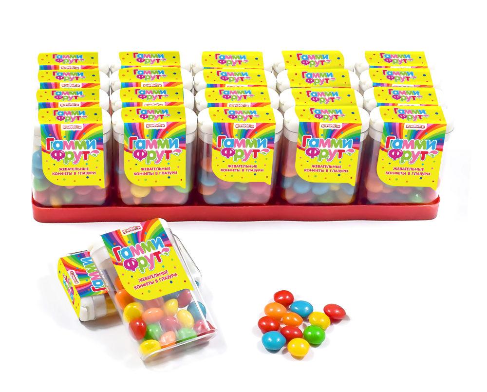 ГАММИ ФРУТ жевательные конфеты в глазури