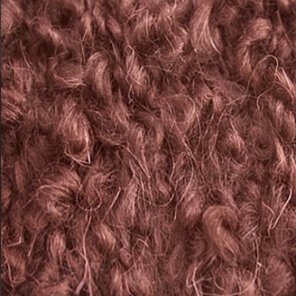 Пряжа буклированная для создания причесок кукол -  цвет Каштановый