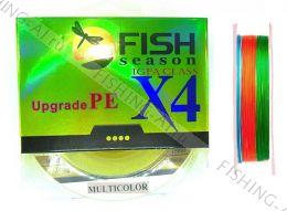 Плетённый шнур Fish Season Upgrade PE X4 igfa class Multicolor 150 м 0.16 мм #1.0