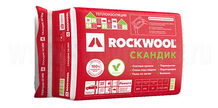 Утеплитель Rockwool Лайт Баттс Скандик 800х600х100 мм 2.88 кв.м