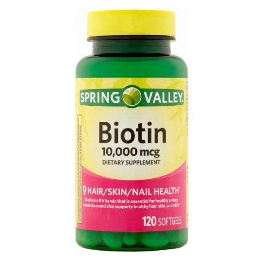Биотин 10000 мкг Spring Valley (120 капсул)