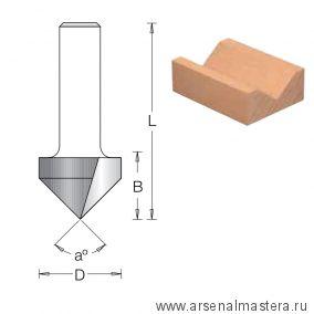 Фреза пазовая V-образная DIMAR 25,4 x 19,1 x 51 x 8 угол 90 1050195