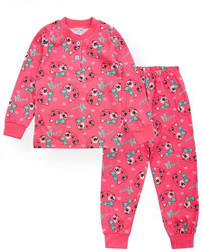 """Пижама для девочек 2-6 лет Bonito """"Мяу"""" коралловый"""
