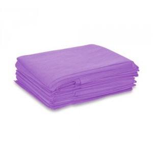 Простыня одноразовая 200*70, (СМС 20), №10 цвет фиолетовый