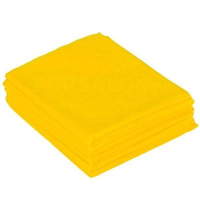 Проcтыня одноразовая 200*80, (СМС 20), №10, цвет желтый