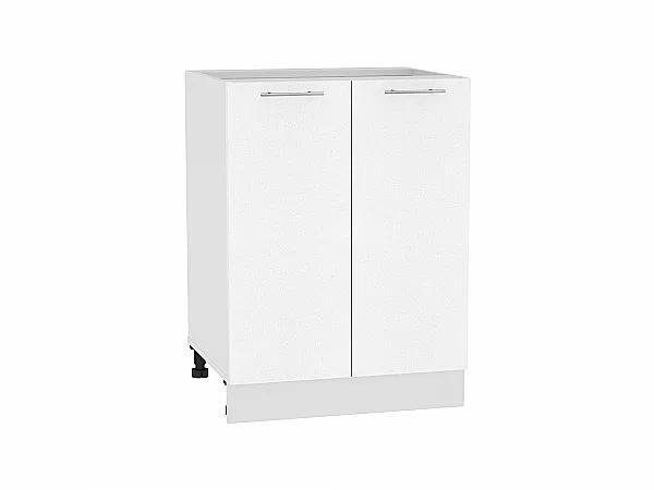 Шкаф нижний Валерия Н600 (белый металлик)