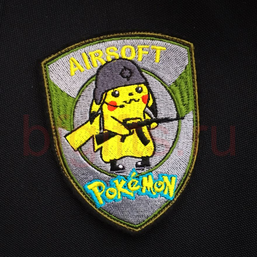 Патч Airsoft pokemon, вышивка