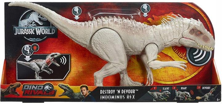 Динозавр Индоминус Рекс со звуковыми и световыми эффектами Мир Юрского периода GNH35