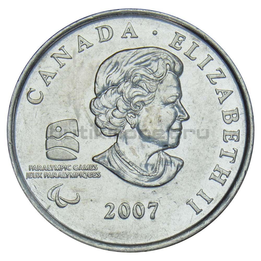 25 центов 2007 Канада Паралимпийский Кёрлинг (Олимпийские игры в Ванкувере)