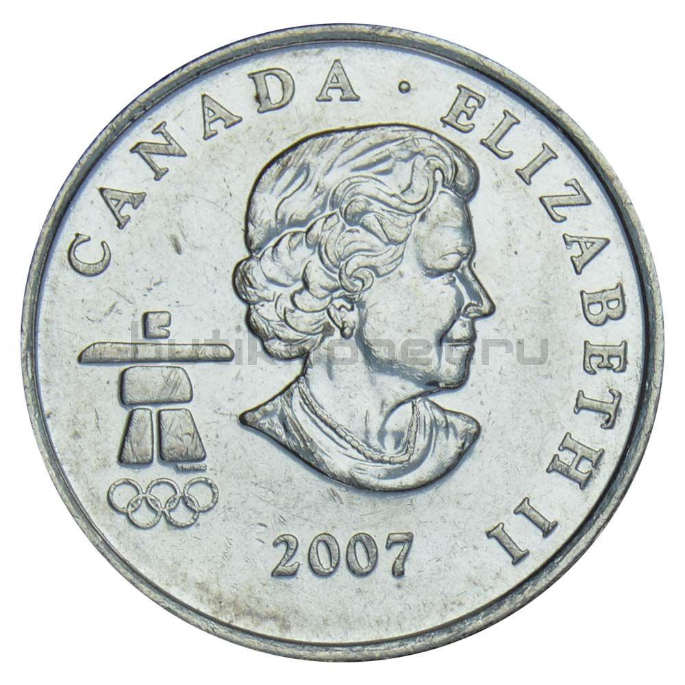 25 центов 2007 Канада Кёрлинг (Олимпийские игры в Ванкувере)