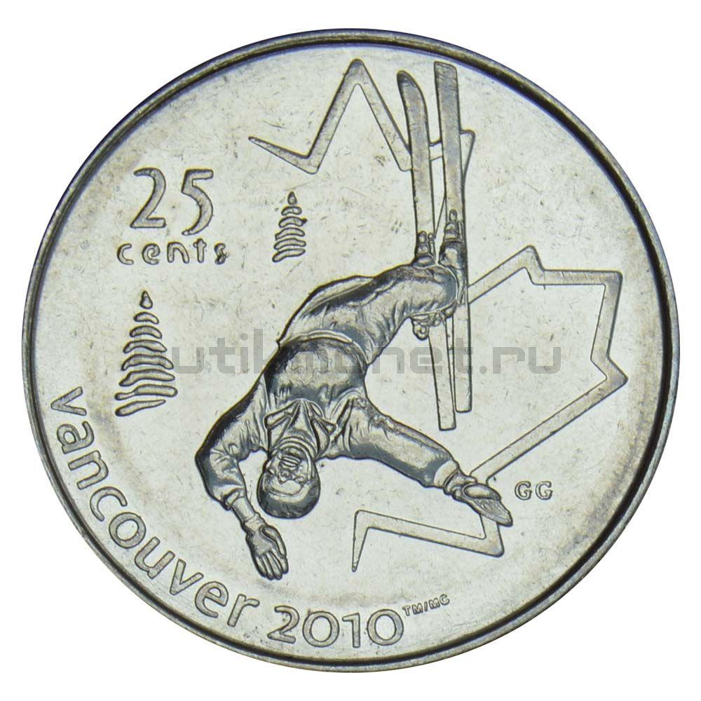 25 центов 2008 Канада Фристайл (Олимпийские игры в Ванкувере)