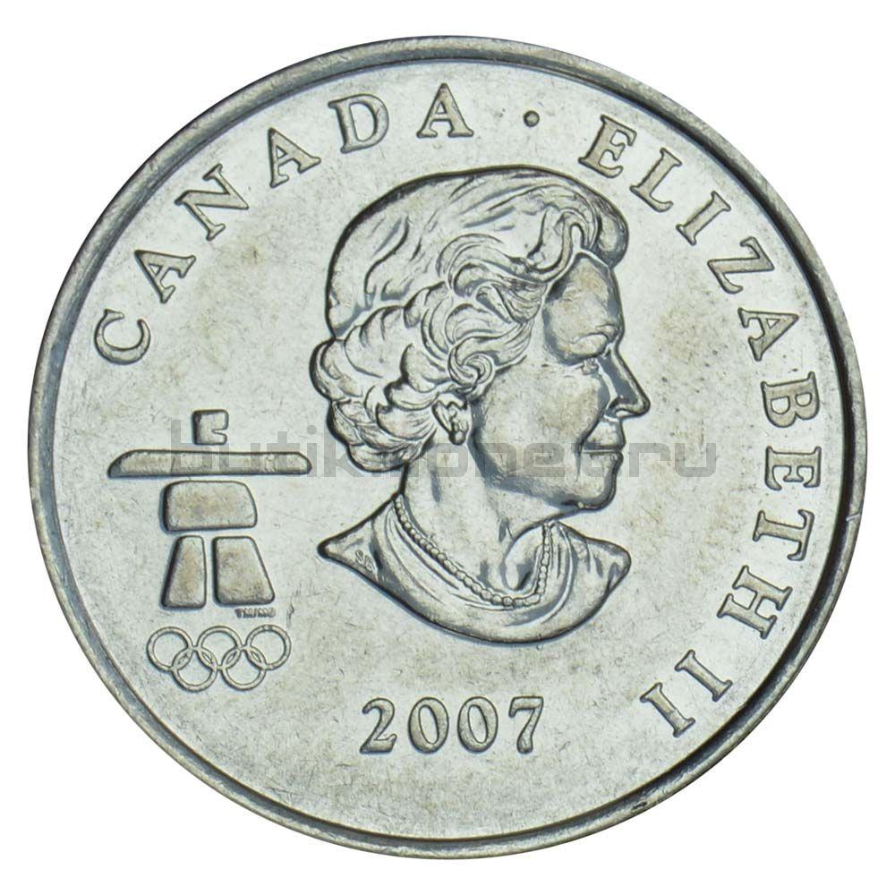 25 центов 2007 Канада Хоккей (Олимпийские игры в Ванкувере)