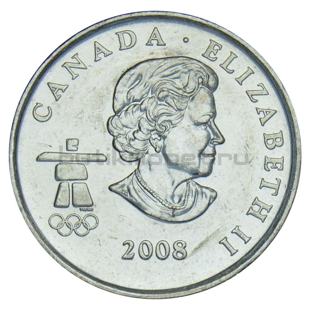 25 центов 2008 Канада Бобслей (Олимпийские игры в Ванкувере)
