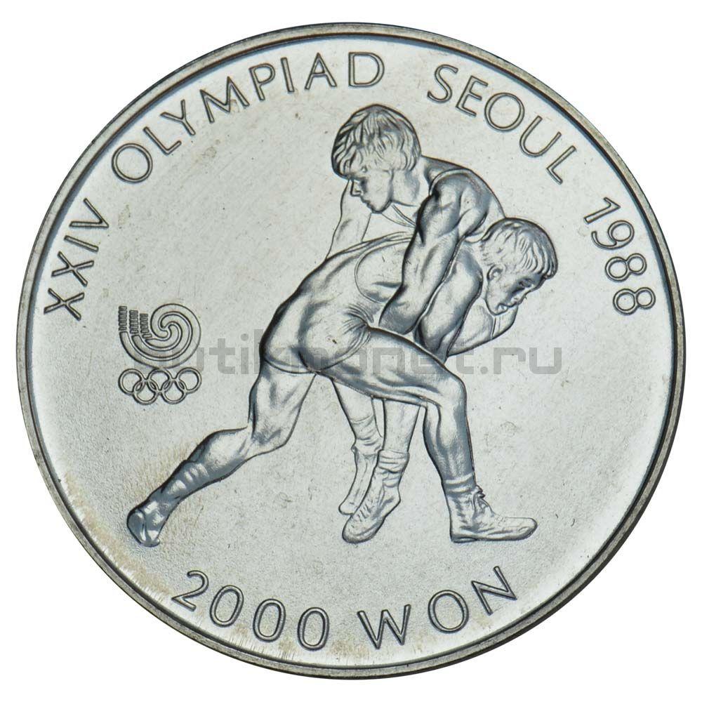 2000 вон 1987 Южная Корея Борьба (XXIV летние Олимпийские Игры, Сеул 1988)