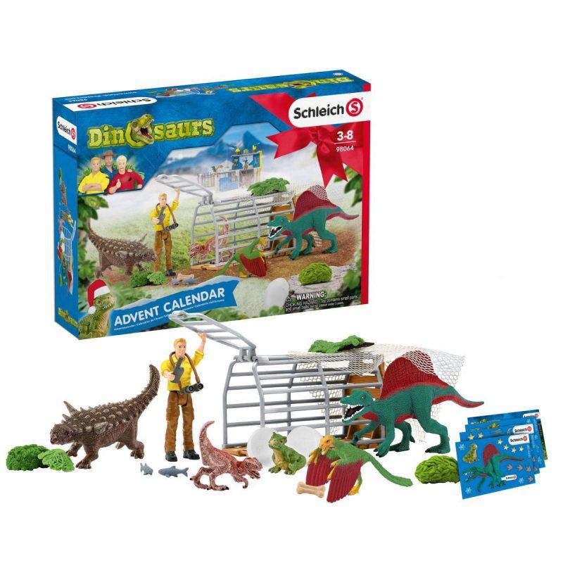 Рождественский календарь динозавров Schleich 98064