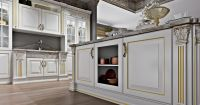 Кухня Olimp (Олимп) белая с буфетами