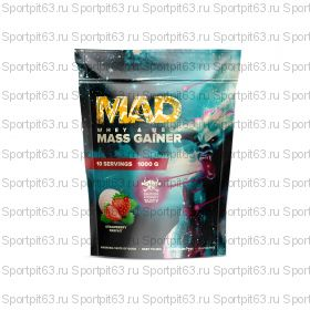 MAD WHEY & BEEF MASS GAINER 1000g/10serv Клубника